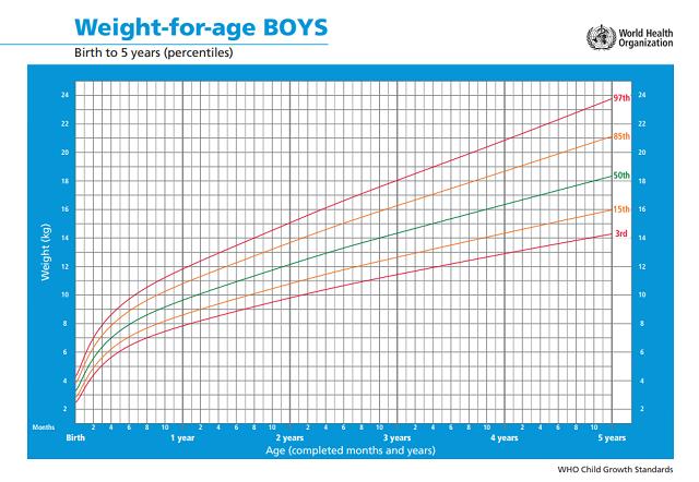 biểu đồ tăng trưởng chiều cao ở trẻ mầm non