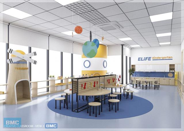 thiết kế trường học mầm non