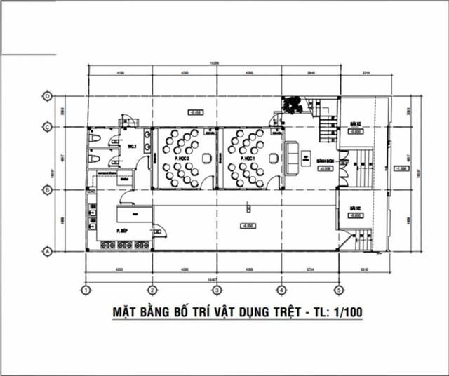 Bản vẽ thiết kế trường mầm non